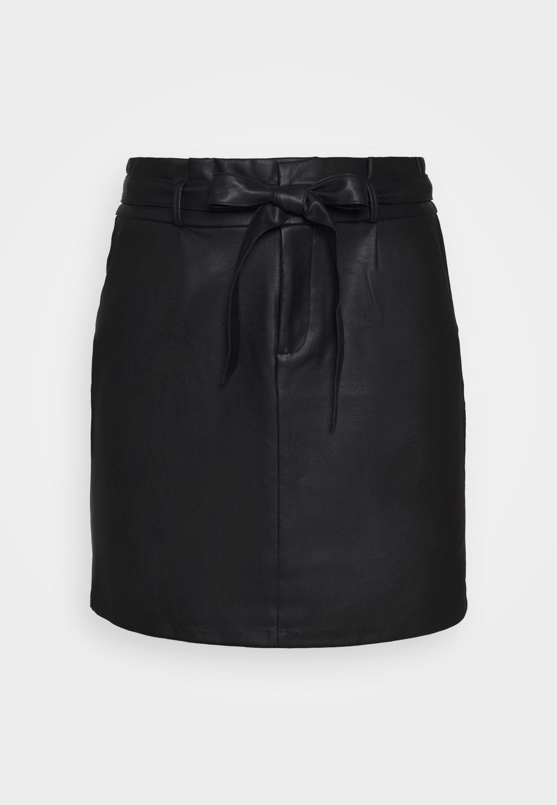 Femme VMEVA PAPERBAG SHORT COATED - Minijupe