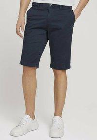 TOM TAILOR - JOSH  - Shorts - dark navy minimal design - 0