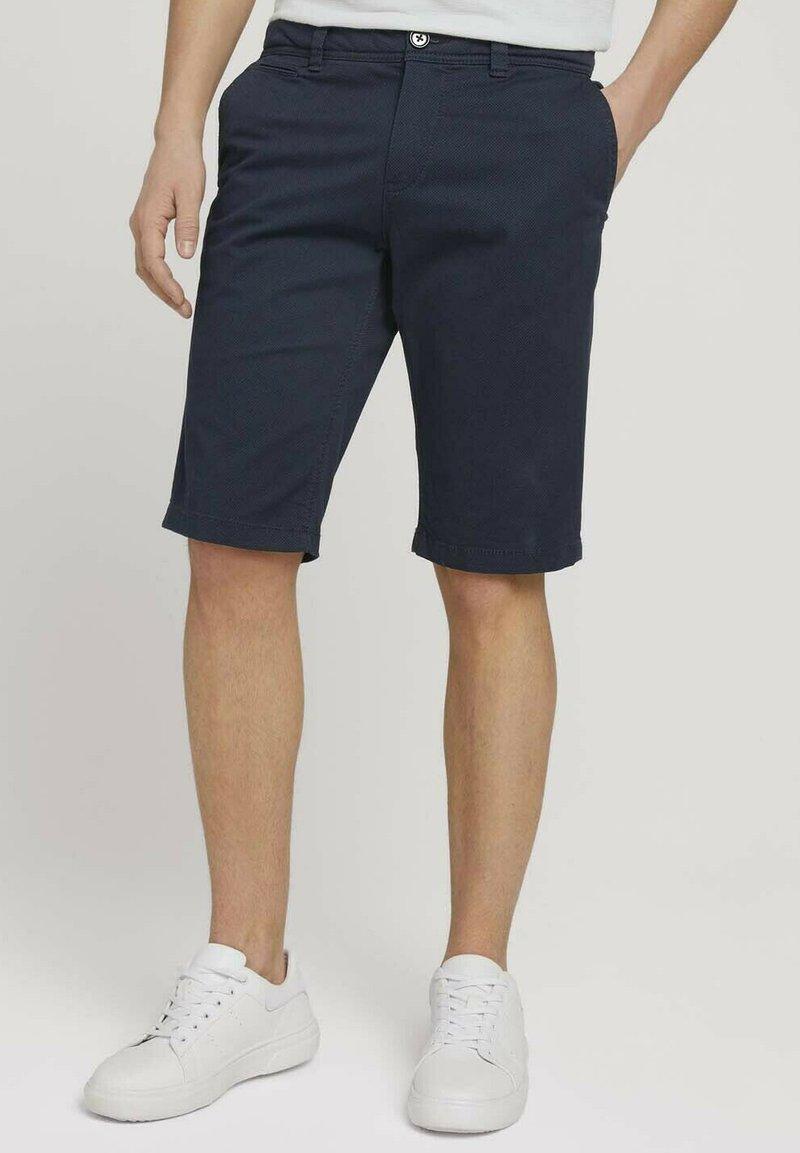 TOM TAILOR - JOSH  - Shorts - dark navy minimal design
