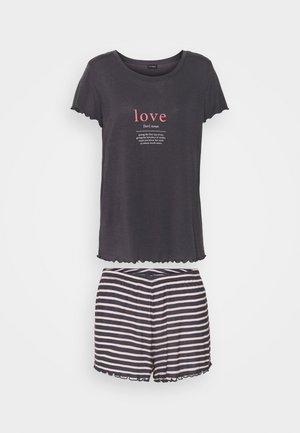 LOVE SHORTY SET - Pyjama set - anthracite