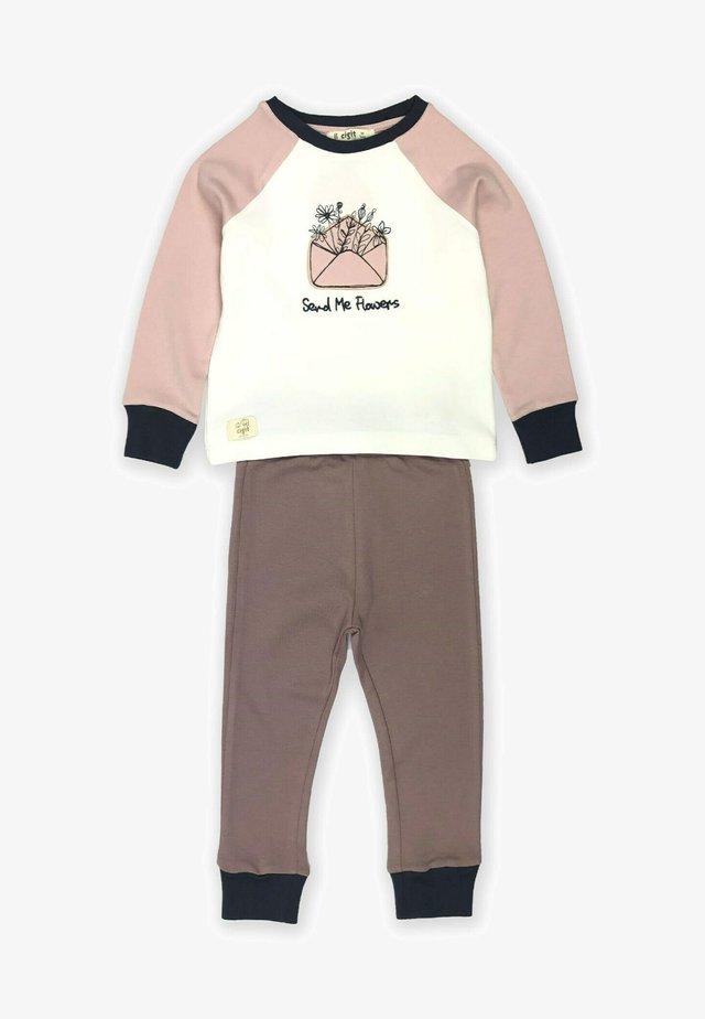 Envelope Embroidered Pajamas (3 to 8 years) - Pyjama - ecru
