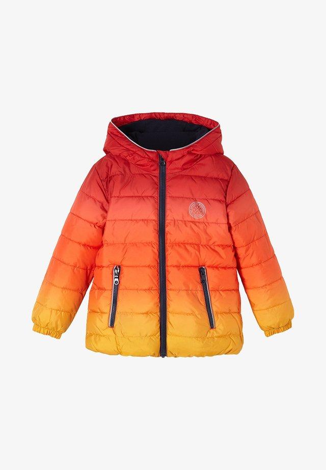 Winterjas - red/yellow gradient
