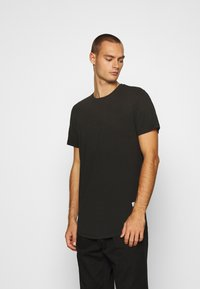 Jack & Jones - JJENOA TEE CREW NECK 5 PACK - Basic T-shirt - white/black/dark blue - 3