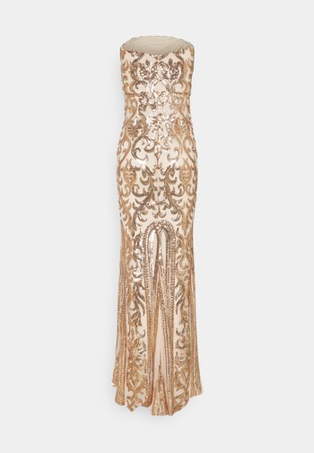 FIERCE SEQUIN GOWN - Occasion wear - champagne