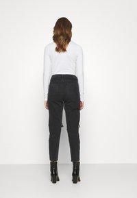 American Eagle - Slim fit jeans - destroyed black - 2