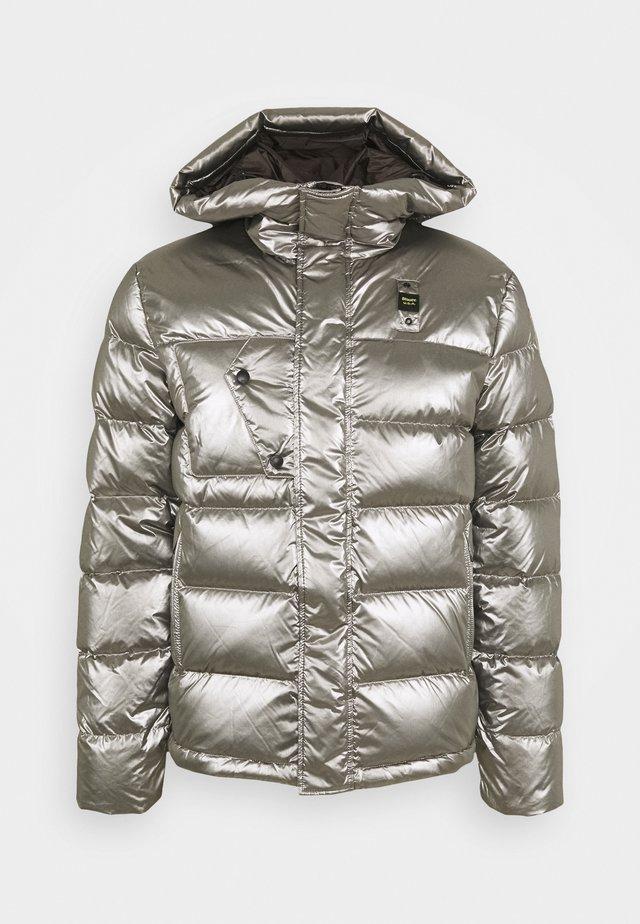 GIUBBINI CORTI IMBOTTITO - Down jacket - metallic silver