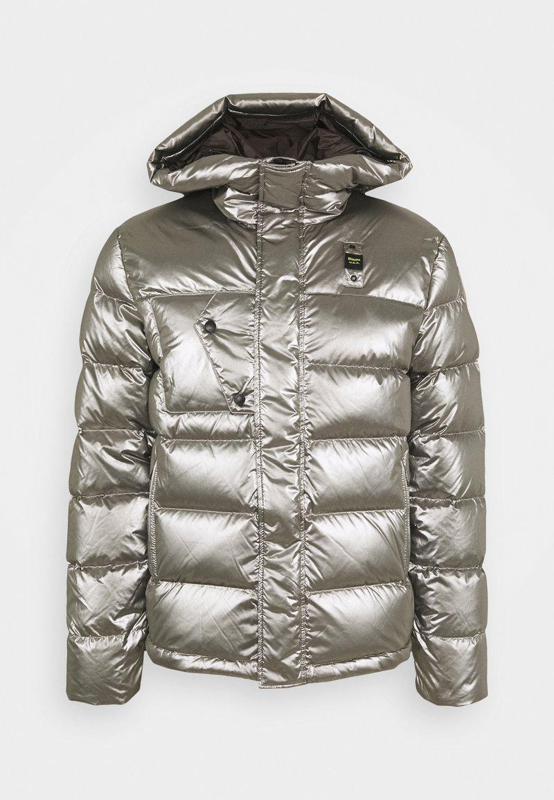 Blauer - GIUBBINI CORTI IMBOTTITO - Down jacket - metallic silver