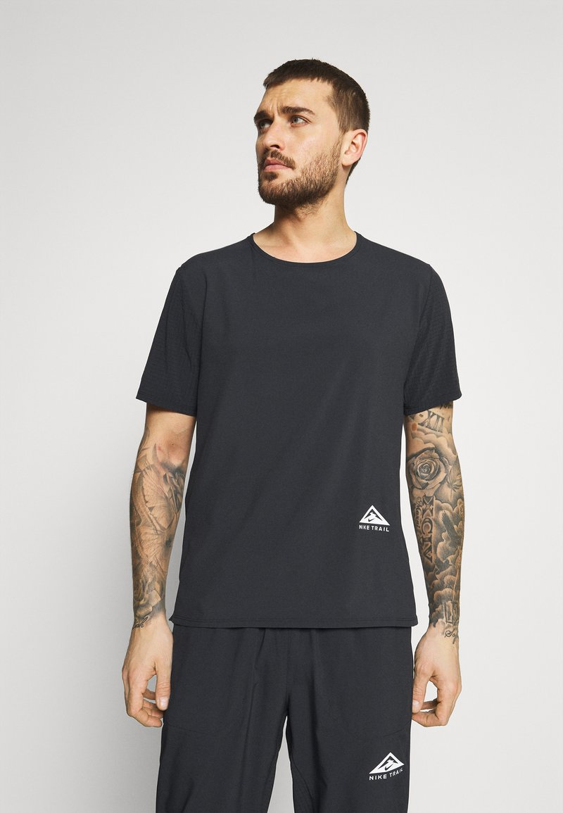 Nike Performance - TRAIL RISE - T-shirts print - black/silver