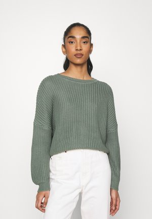 OVERSIZED JUMPER - Jersey de punto - green