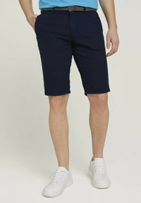 TOM TAILOR - Shorts - navy squared structure - 0
