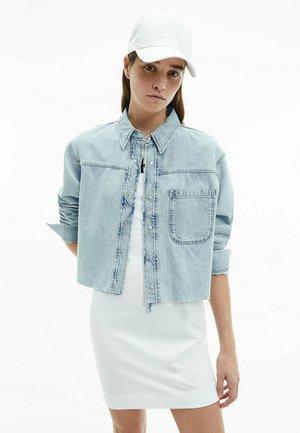 Button-down blouse - denim light