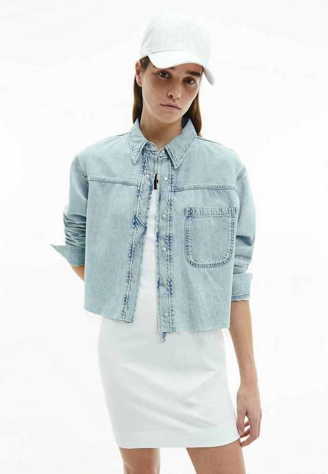 Button-down blouse - denim light