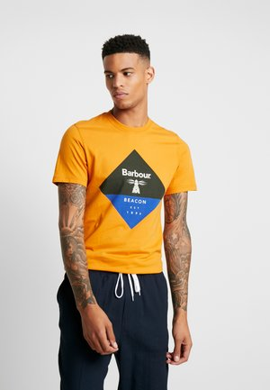 DIAMOND TEE - Print T-shirt - golden oak