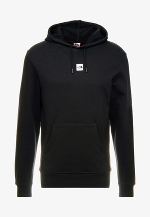 CENTRAL LOGO HOOD - Jersey con capucha - black