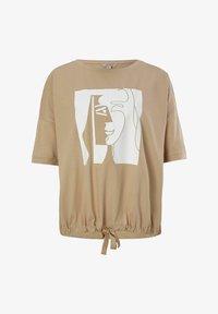 comma - Print T-shirt - san - 0