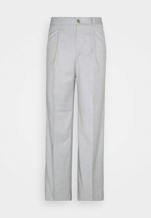 BOXY SUIT PANTS - Stoffhose - off white