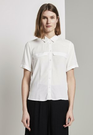 Button-down blouse - whisper white