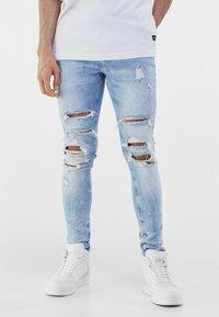 Bershka - Jeans Skinny Fit - blue denim - 0