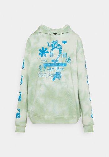 LIFE BALANCE TIE HOODY - Sweatshirt - green