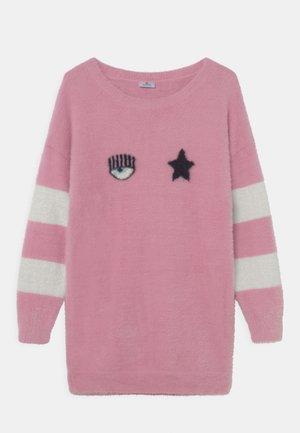 MINI ABITO EYESTAR - Jumper dress - panna/rosa
