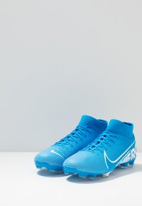 Nike Performance - MERCURIAL 7 ACADEMY FG/MG - Moulded stud football boots - blue hero/white/obsidian - 2