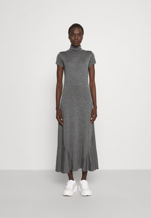SHORT SLEEVE DAY DRESS - Maxi dress - boulder grey heather