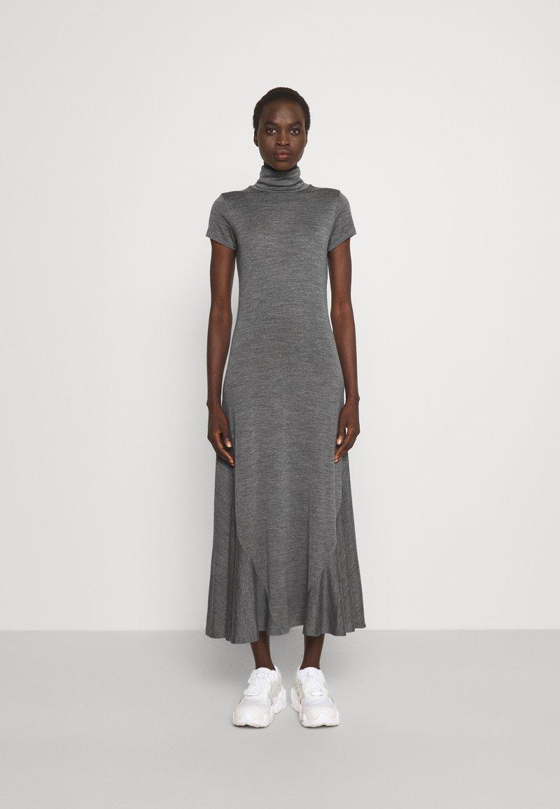 Polo Ralph Lauren - SHORT SLEEVE DAY DRESS - Maxi dress - boulder grey heather