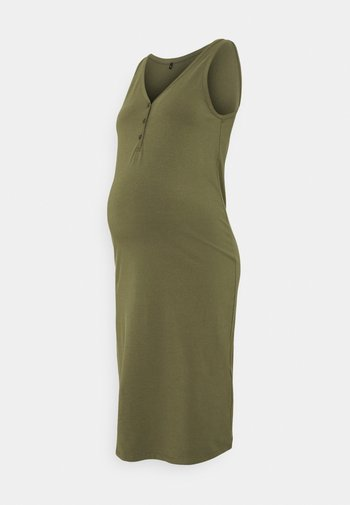 OLMSALLY CALF DRESS - Jersey dress - olive night