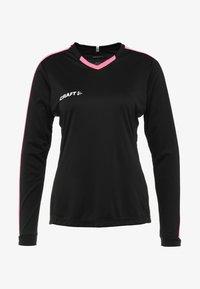 Craft - PROGRESS CONTRAST - T-shirt de sport - black/pop - 5