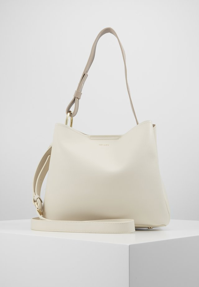 JANE - Tote bag - coconut milk / taupe
