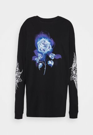 TEE DRESS WITH TRIBAL ROSE - Jerseyklänning - black