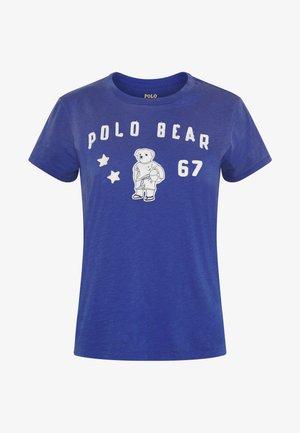 Print T-shirt - royal navy