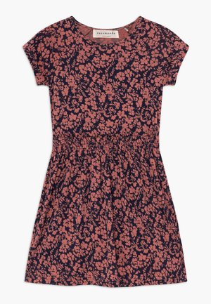 DRESS - Jersey dress - terracotta