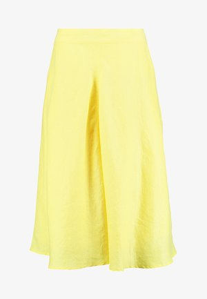 SOLID - A-line skirt - bright yellow