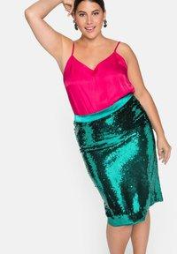 Sheego - Pencil skirt - powergrün - 4
