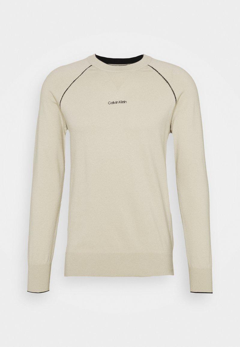 Calvin Klein - BLEND SWEATER - Stickad tröja - beige