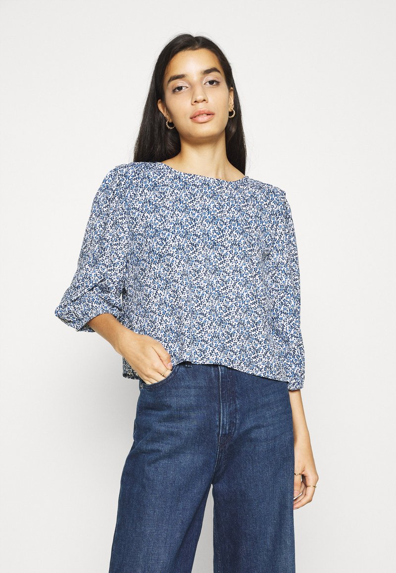 ONLY - ONLSHAKIRA - Long sleeved top - cloud dancer/blue ditsy