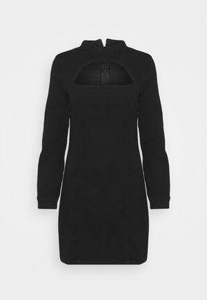 CUT OUT LONG SLEEVE DRESS - Kjole - black