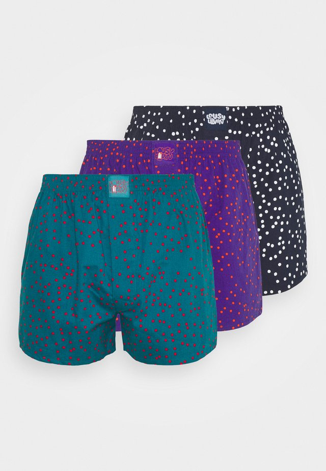 DOTS 3 PACK - Boxer  - navy/teal/violett