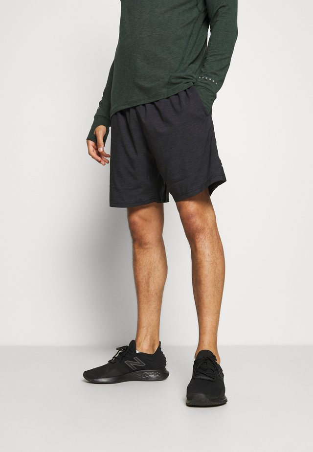 VANCLAUSE MELANGE 2-IN-1 SHORTS - Pantaloncini sportivi - black melange
