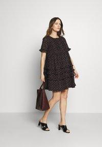 Topshop Maternity - DITSY LADDER TRIM MINI - Sukienka letnia - black - 1