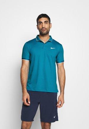 DRY TEAM - Funkční triko - neo turquoise/white