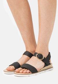 Dorothy Perkins - RADIATE WEDGE - Wedge sandals - black - 0
