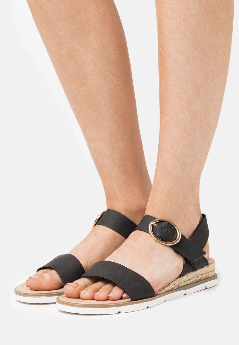 Dorothy Perkins - RADIATE WEDGE - Wedge sandals - black