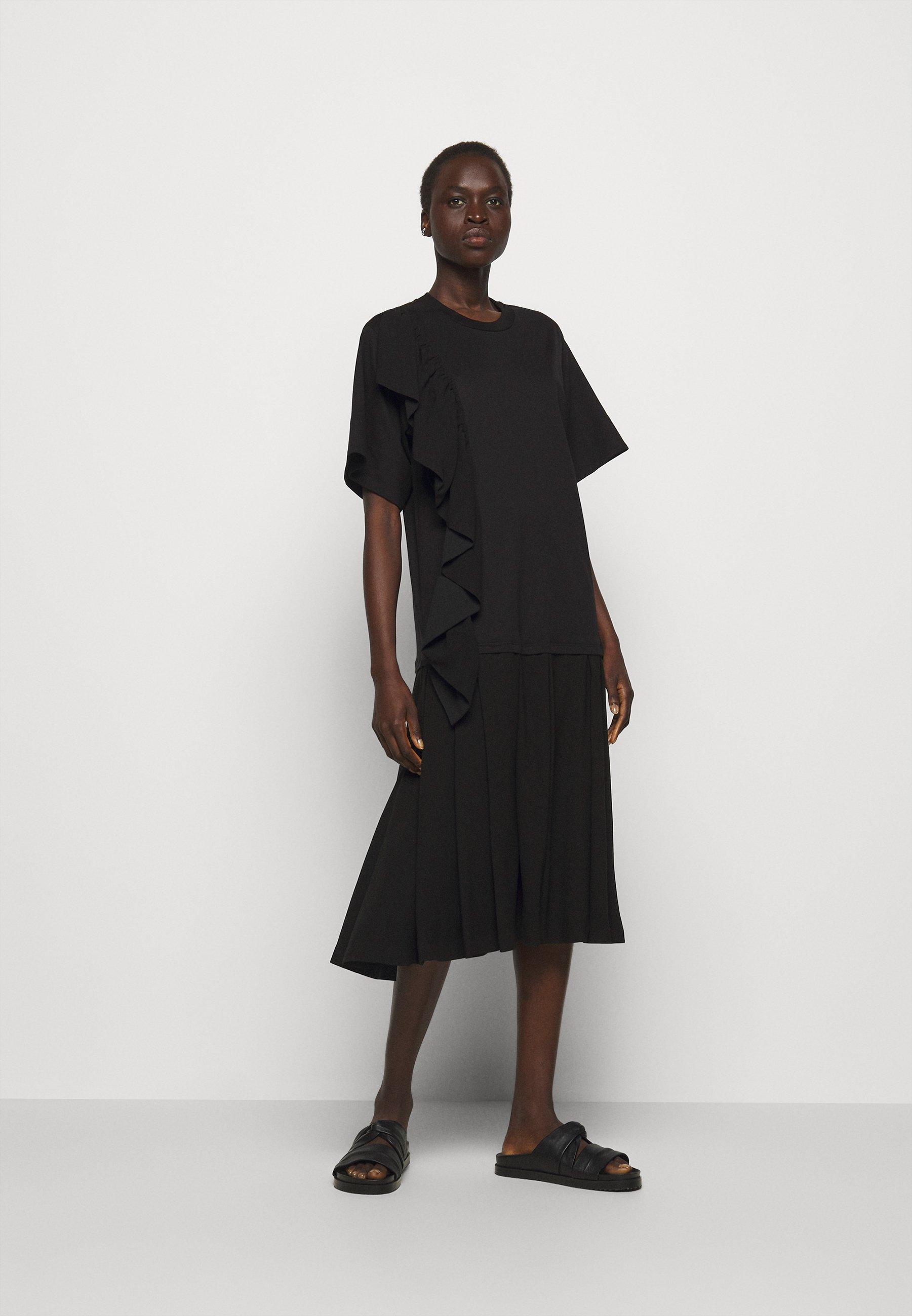 Women RUFFLE COMBO DRESS - Jersey dress