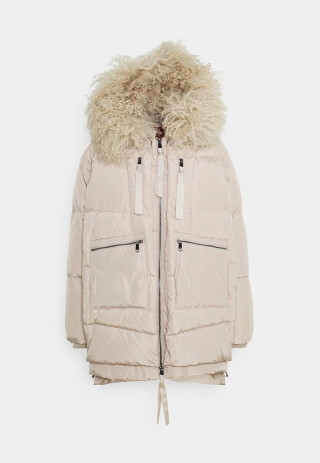 MUGHETTO - Down coat - beige