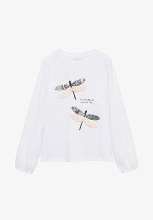 Maglietta a manica lunga - gebroken wit