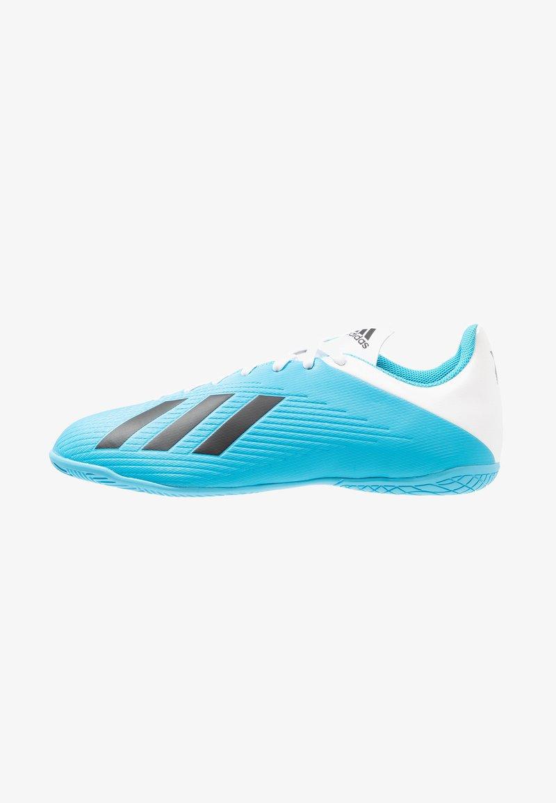 adidas Performance - X 19.4 IN - Botas de fútbol sin tacos - bright cyan/core black/shock pink