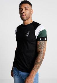 Brave Soul - STAR - Print T-shirt - black combo - 0