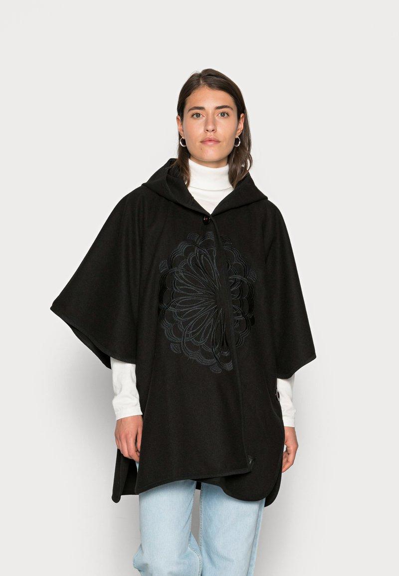 Desigual - PONCHO MANDARALA CAPA - Ponczo - black